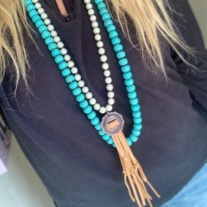 Pearl Tassel Long Necklace